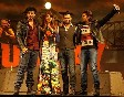 Arjun Kapoor Priyanka Chopra director Ali Abbas Zafar Ranveer Singh at the music launch of GUNDAY at YRF Studios in Mumbai