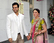 Esha Deol with fiance Bharat Takhtani at their engagement ceremong at her Bungalow Photo