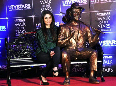 Kareena Kapoor posing with the statue of her grandfather Raj Kapoor at the inauguration of UTV Stars property Walk of the Stars Photo