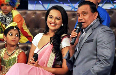 Mithun Chakraborty Sonakshi Sinha on the sets of dance reality show Dance India Dance Lil Masters to promote film Rowdy Rathore Photo
