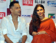 Vidya Balan with director Sujoy Ghosh at the DVD launch of their film KAHANI at Diesel Store photo
