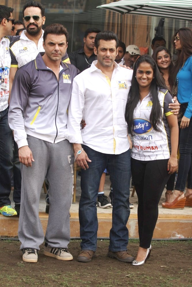 ... Cricket League match at DY Patil Stadium in Nerul promoting JAI HO CCL