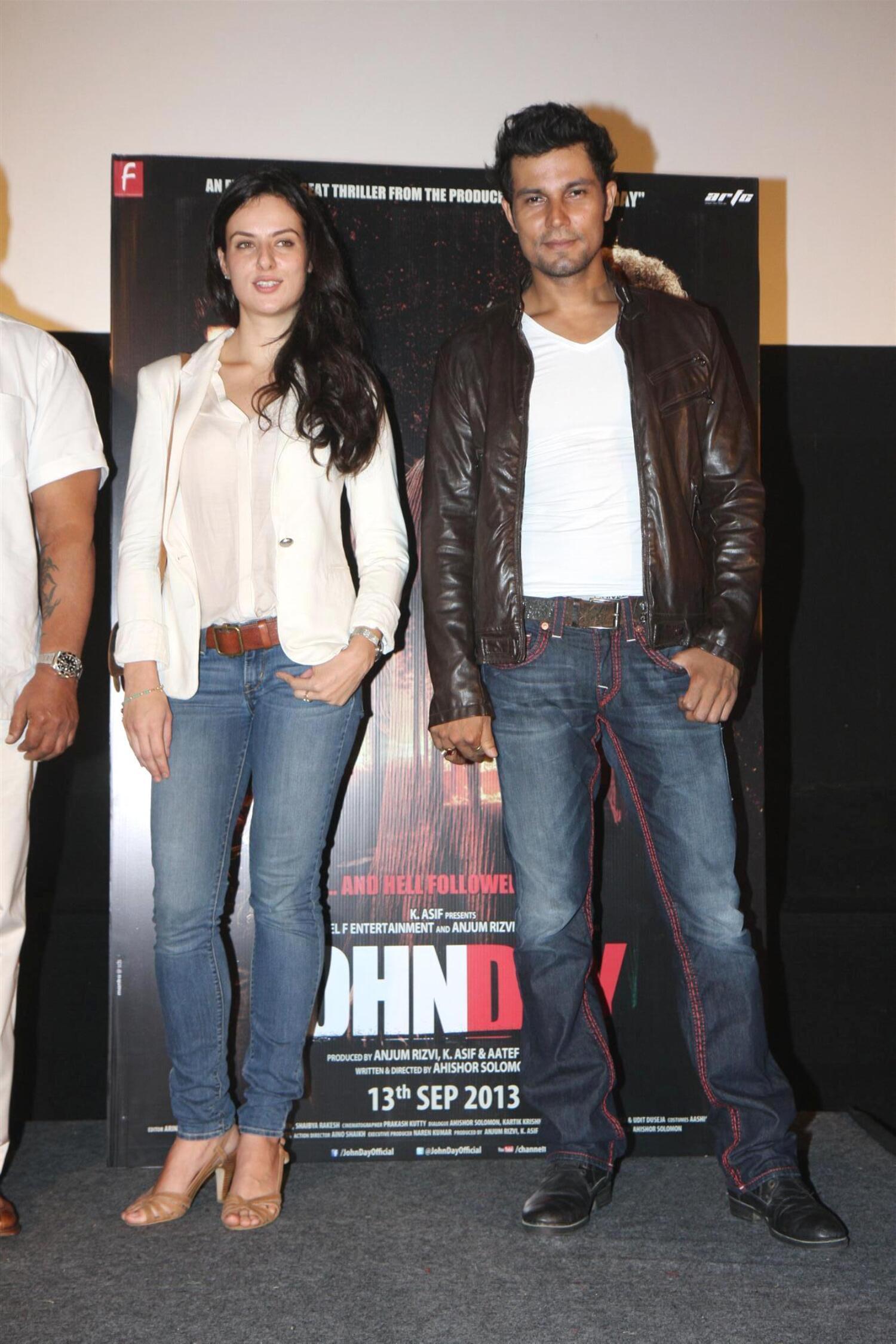 randeep hooda german actress elena kazan at film john day randeep hooda german actress elena kazan at film john day press meet in mumbai 5