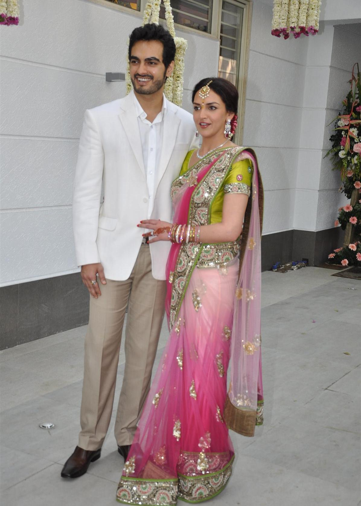 Esha Deol with fiance Bharat Takhtani at their engagement