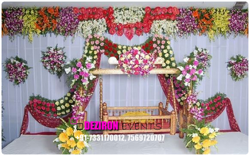Naming ceremony decoration in hyderabad birthday party for Baby name ceremony decoration