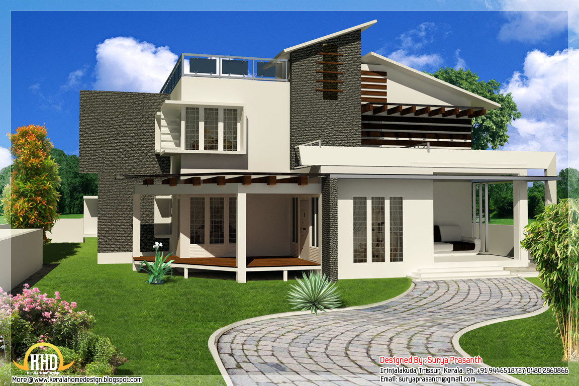 Contemporary house designer s home amroha for Pics of modern houses