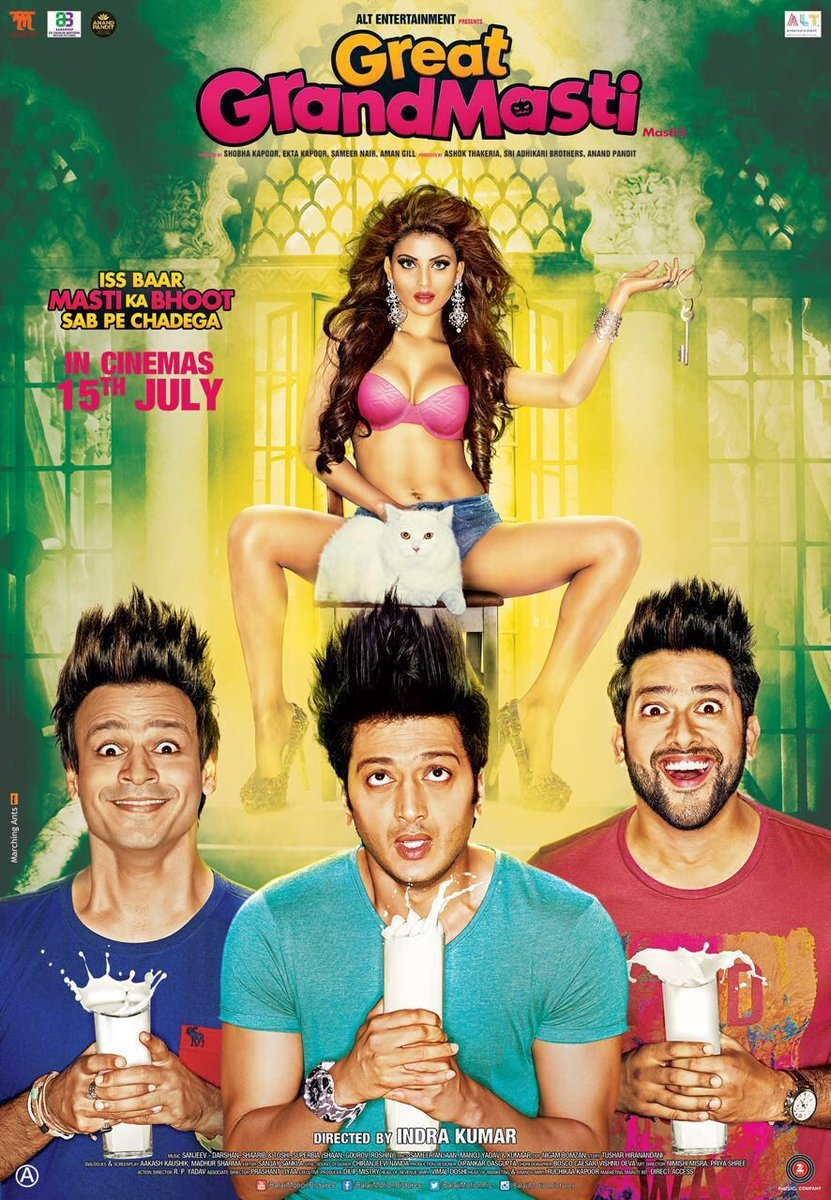 Great Grand Masti (2016) Hindi – 720p DVDRiP – x265 HEVC – 750MB – ShAaNiG – 750 MB