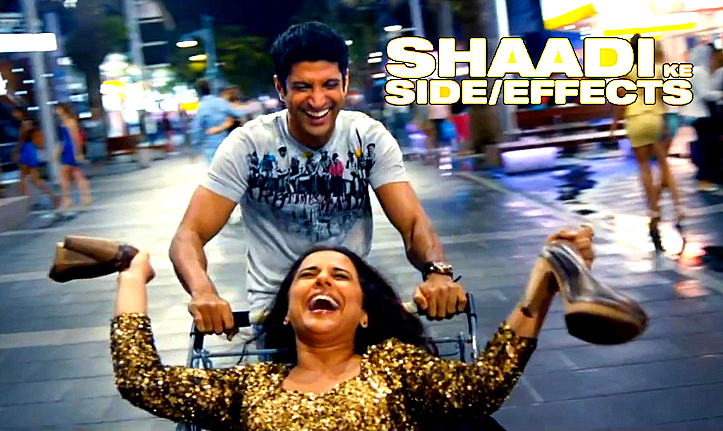 Vidya balan farhan aktar shaadi ke side effects movie still