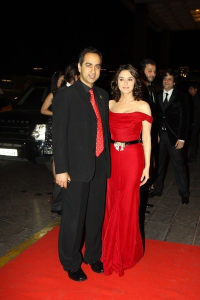 Preity Zinta with new boyfriend at the 40th Birthday Party of Karan Johar at Hotel Taj Lands End in Mumbai
