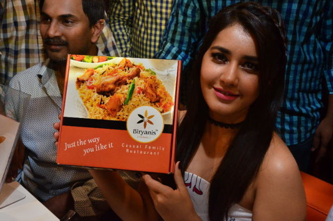 Raashi Khanna Launches Biryani Restaurant at Chandanagar  27