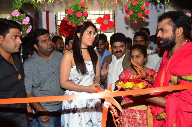Raashi Khanna Launches Biryani Restaurant at Chandanagar