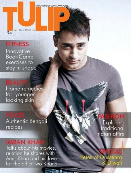 Imran Khan on Tulip Magazine cover October 2011