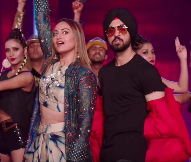 Sonakshi Sinha  Diljit Dosanjh Welcome to New York Movie Song Pics  7