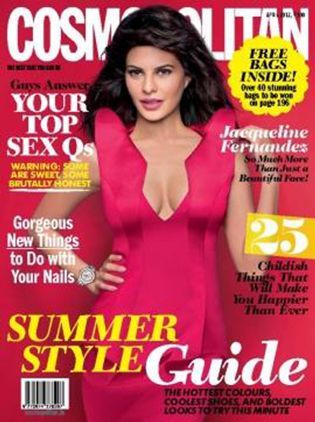 Jacqueline Fernandez Cosmopolitan India April 2012 Cover Page Photo
