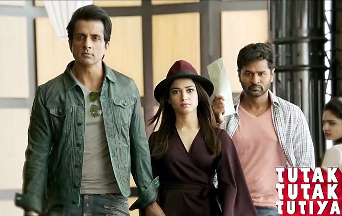 Tamannah Bhatia  Sonu Sood  Prabhu Deva Tutak Tutak Tutiya Movie Song Pic