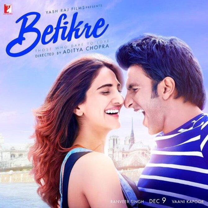 Vaani Kapoor Ranveer Singh Befikre movie Poster