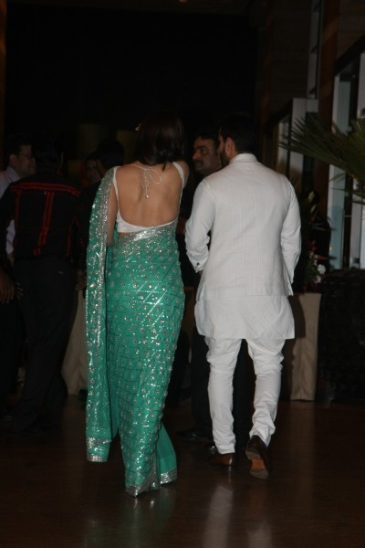 Hotel Wedding Receptions on Kapoor Backless At Ritesh Deshmukh Genelia Wedding Reception At Hotel