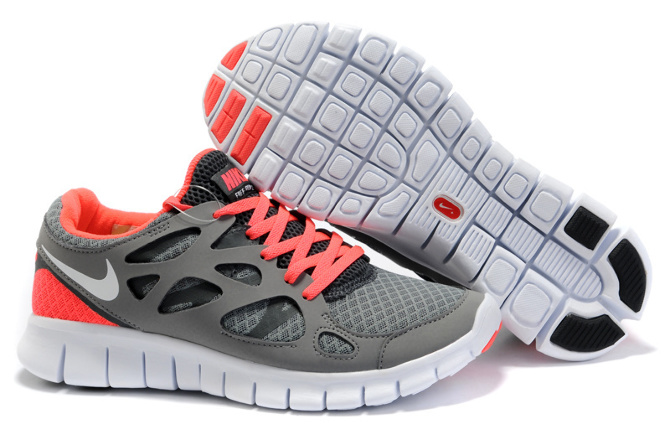 nike free run 2 womens pink grey white black www. Black Bedroom Furniture Sets. Home Design Ideas