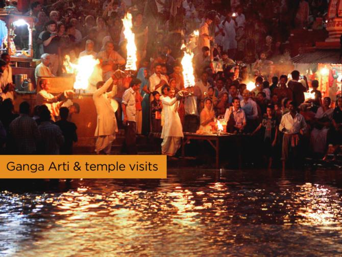 Ganga Arti   temple visits
