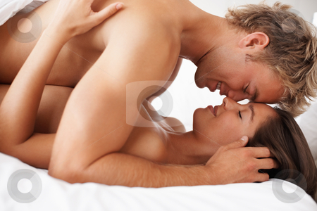 Sex Passionate married couple enjoying in bed jpg