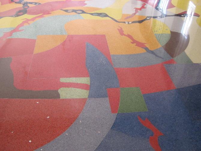 american terrazo flooring done by NITCO