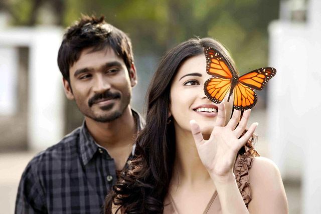Dhanush and Shruti Hassan 3 Tamil Movie Pic