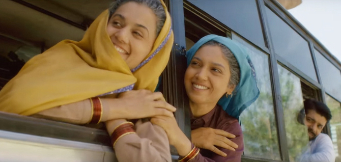 Vineet Kumar Singh  Bhumi Pednekar   Taapsee Pannu starrer Saand Ki Aankh Movie Photos  19