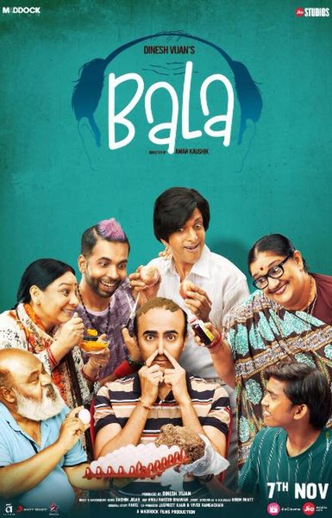 New poster of Hindi Movie Bala