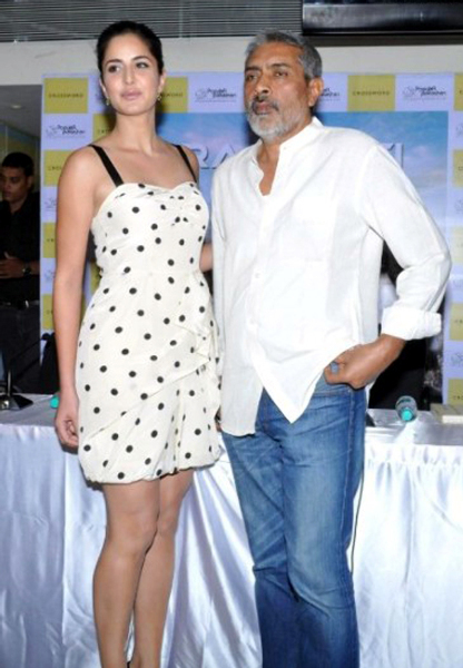 Katrina Kaif With Filmmaker Prakash Jha At The Launch Of The Book Raajneeti The Film And Beyond At Crossword Store In Mumbai Photo