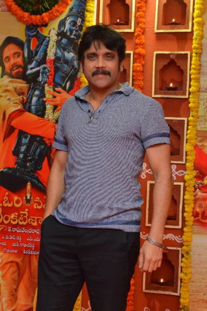Akkineni Nagarjuna Om Namo Venkatesaya Movie Interview Stills  7