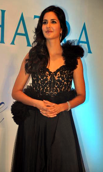 Katrina Kaif at the unveiling of the new logo brand campaign GLOW DIVINE for Nakshatra Diamonds in Mumbai Photo