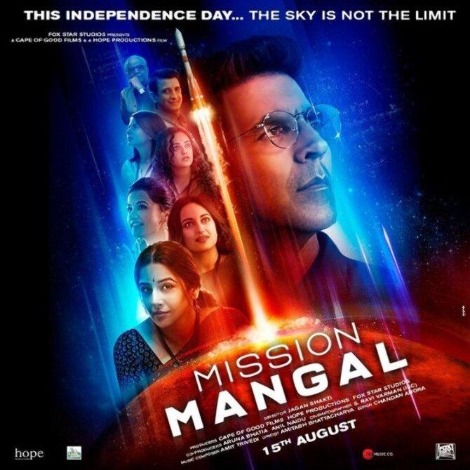 Mission Mangal Movie Starring Akshay Kumar  Vidya Balan  Sonakshi Sinha  Taapsee Pannu  Nithya Menen  Kirti Kulhari and Sharman Joshi