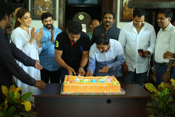 Nandamuri Kalyanram Birthday Celebrations on MLA Movie Sets  21